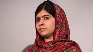 Teenage campaigner Malala Yousafzai.