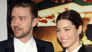 Justin Timberlake with wife Jessica Biel.