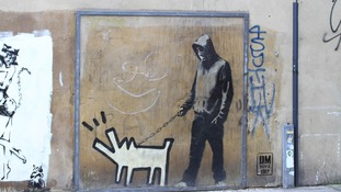 Keith Haring Dog by Banksy, Bermondsey
