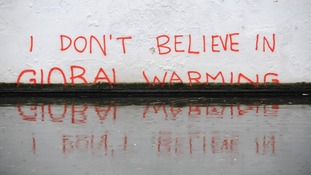 Global warming, the Oval Bridge in Camden Town