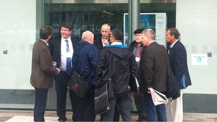 Unite officials arrive at ACAS