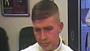 Police want to trace this man in connection with an assault on a train