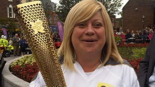 The Olympic Torch in Dumfries