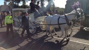 Hannah's coffin was pulled through the streets by horses