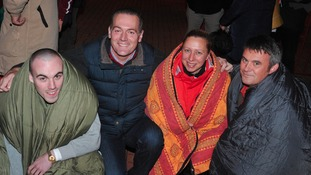 images from last night's CEO Sleepout at Middlesbrough's Riverside Stadium