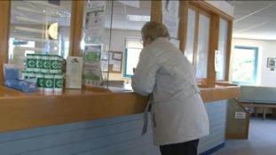 patient at doctors reception