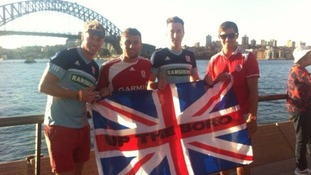 Some of the 'Mission Oz' boys in Australia