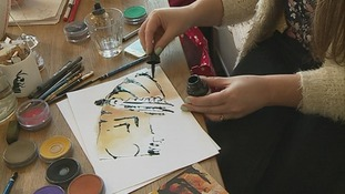illustrator draws a tiger