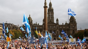 'Hope over fear' rally in Glasgow