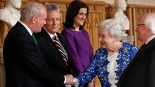 The Queen and Martin McGuinness at Windsor Castle