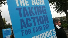 There are picket lines outside Nottingham City hospital