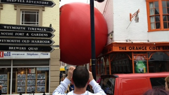 giant red ball