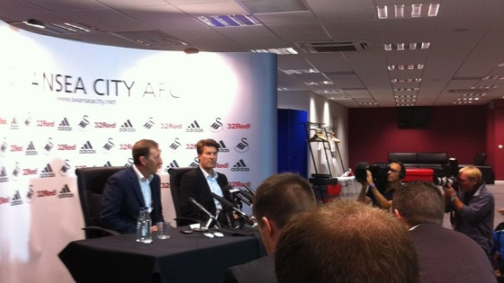 Michael Laudrup at presser