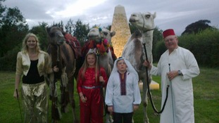 Mr and Mrs Fossett say their camels are part of the family