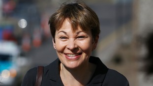 Caroline Lucas tweeted about her party taking advice.