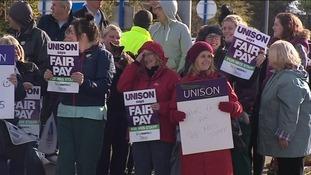 nions continue strikes across Cumbria