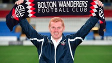 New Bolton Wanderers manager Neil Lennon is unveiled.