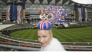 A Diamond Jubilee hat at the Diamond Jubilee Royal Ascot
