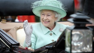 The Queen went for a classic look with her usual hat style for Ladies' Day at Ascot