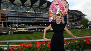 Some hats are larger than others at Ladies' Day at Royal Ascot