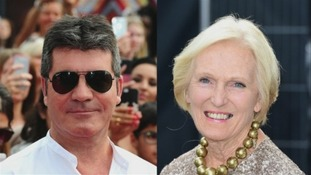 The X Factor's Simon Cowell and The Great British Bake Off's Mary Berry