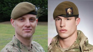 Cpl Alex Guy from Cambridgeshire and L/Cpl James Ashworth from Northamptonshire who died in Afghanistan.