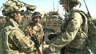 East Anglian soldiers working with local Afghan forces on the security transition.