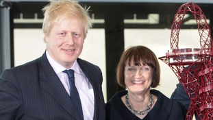 Boris Johnson and Dame Tessa Jowell