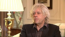 Sir Bob Geldof said music has helped him death with his grief following his daughter Peaches' death in April.