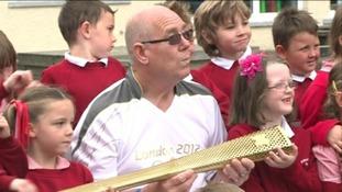 Richard Dean and pupils