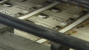 Totnes pounds on the printing press