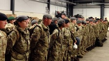 Members of 22 Field Hospital prepare for deployment to Sierra Leone