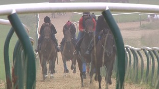 The university jockeys have been training hard for months.