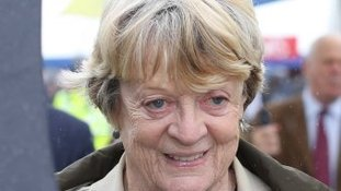 Dame Maggie Smith at Sandringham Flower Show 2013