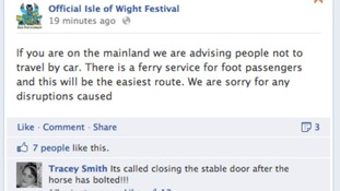Isle of Wight Facebook screengrab