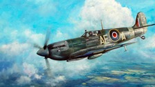 Martin Bleasby has painted a picture of his uncle's Spitfire