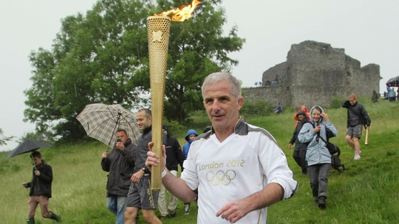 Michael Liptrot carries Olympic Torch