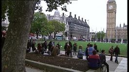 Protesters occupy Parliament Square