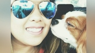 Nina Pham pictured with Bentley before she caught the Ebola.