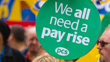 Pay rise protest march