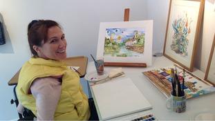 Local artist Vanessa Haarhoff at Bristol's View Art Gallery
