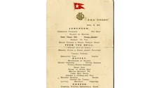 The menu from the Titanic menu sold for £60,000.