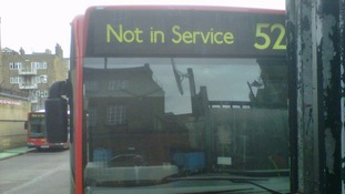 Out of service bus in Lambeth