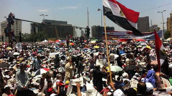 Friday prayers in Tahrir Square today
