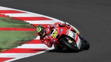 Coventry's Cal Crutchlow onboard his Ducati MotoGP bike