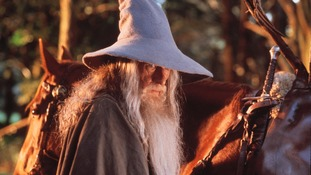 Sir Ian McKellern as Gandalf the Wizard in Lord of the Rings