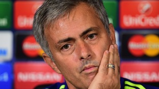 Jose Mourinho at a press conference ahead of tomorrow's game against Maribor.