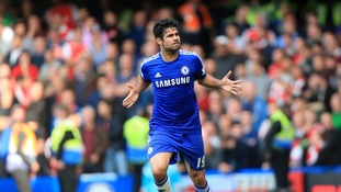 Diego Costa has scored nine Premier League goals for Chelsea this season.