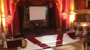 The stage of the Blackpool Tower Ballroom