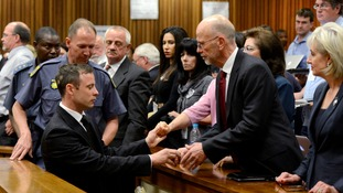 Pistorious spending first night in jail after killing sentence